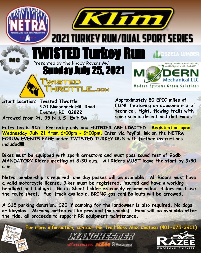 2021 Twisted Turkey Run @ Twisted Throttle | West Greenwich | Rhode Island | United States